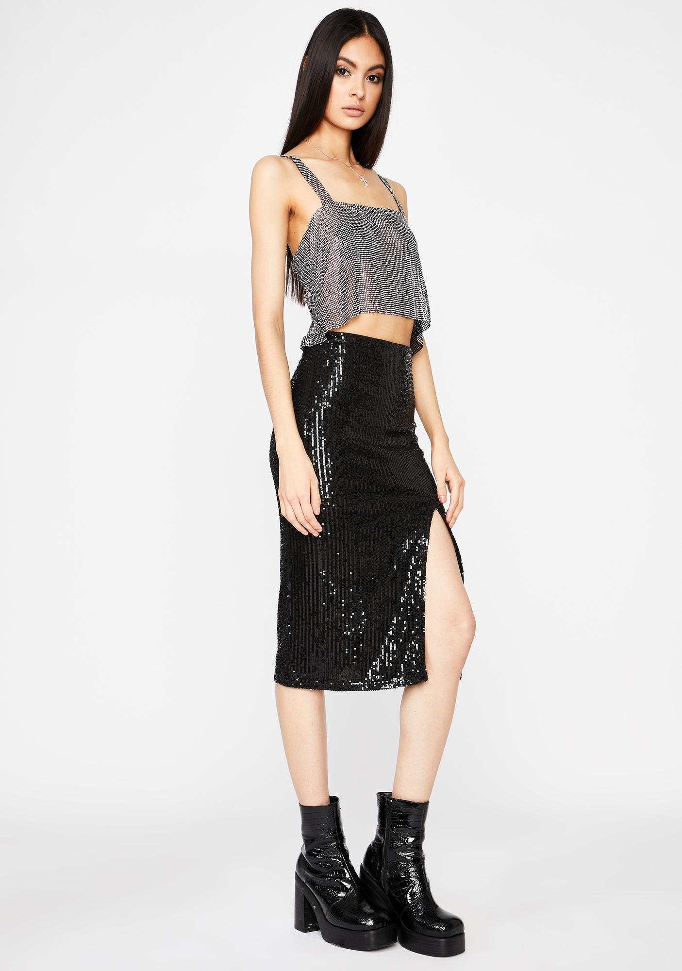 VIP Entrance Sequin Skirt