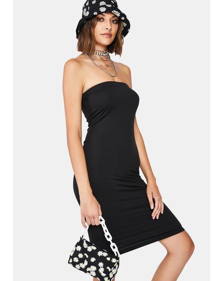 Noir Next Level Babe Tube Dress