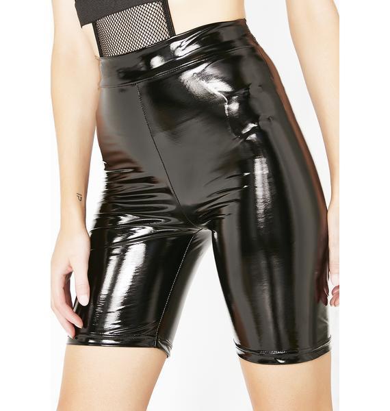 Onyx Candy Coated Lady Vinyl Shorts