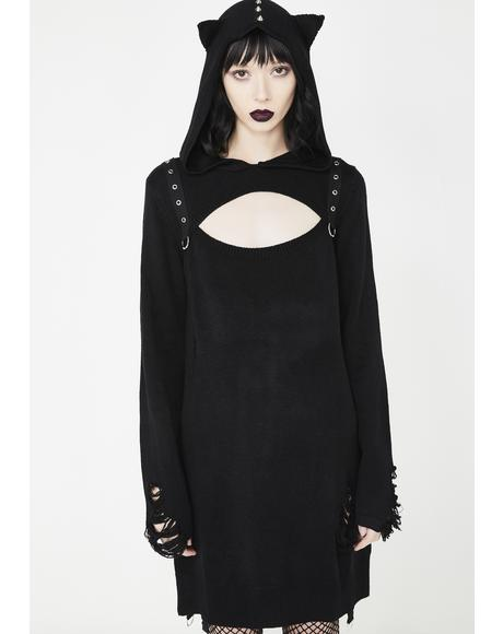 Bad Kitty Bondage Knit Dress
