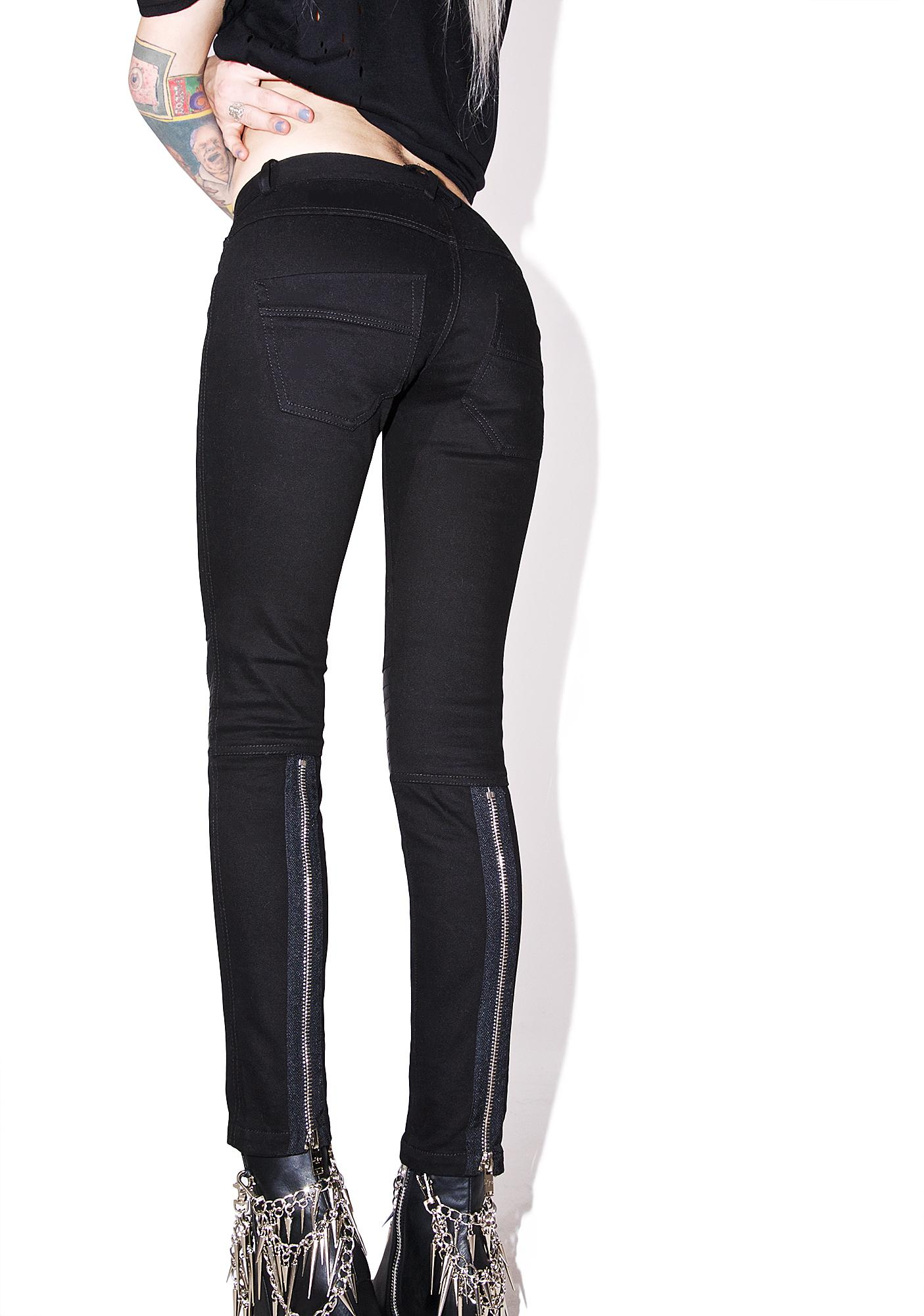 Current Mood Silent Scream Moto Jeans