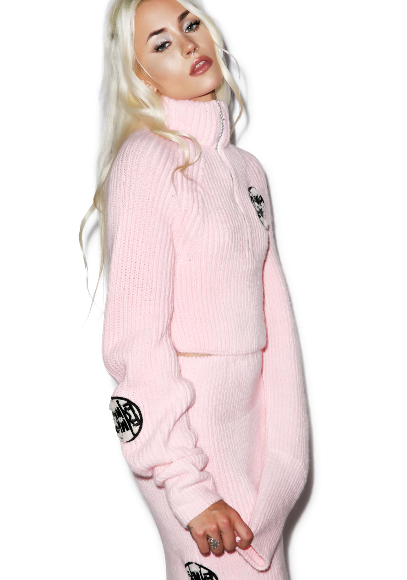 Maria ke Fisherman Fluffy Crop Sweater