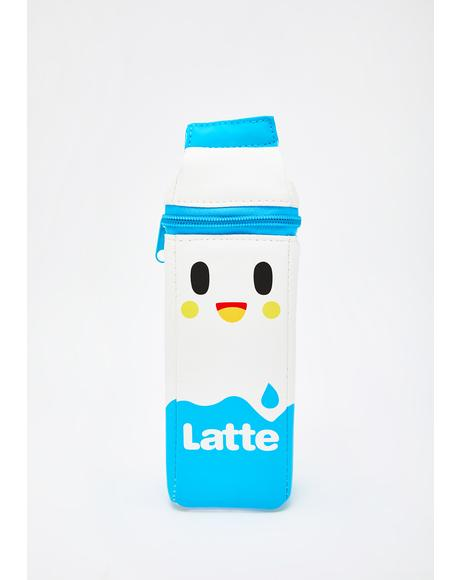 Latte Milk Carton Pencil Case