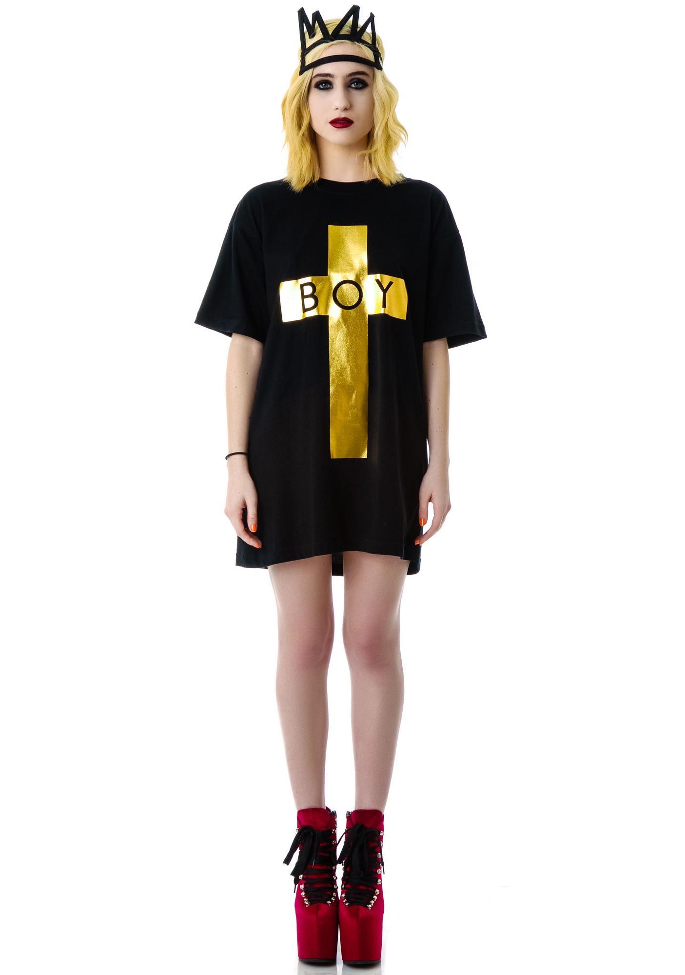 Long Clothing x BOY London Boy Cross Oversized Tee