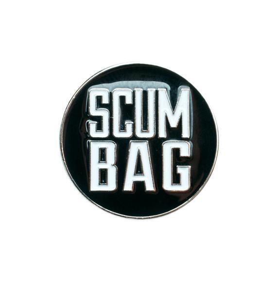 Sourpuss Clothing Scum Bag Enamel Pin