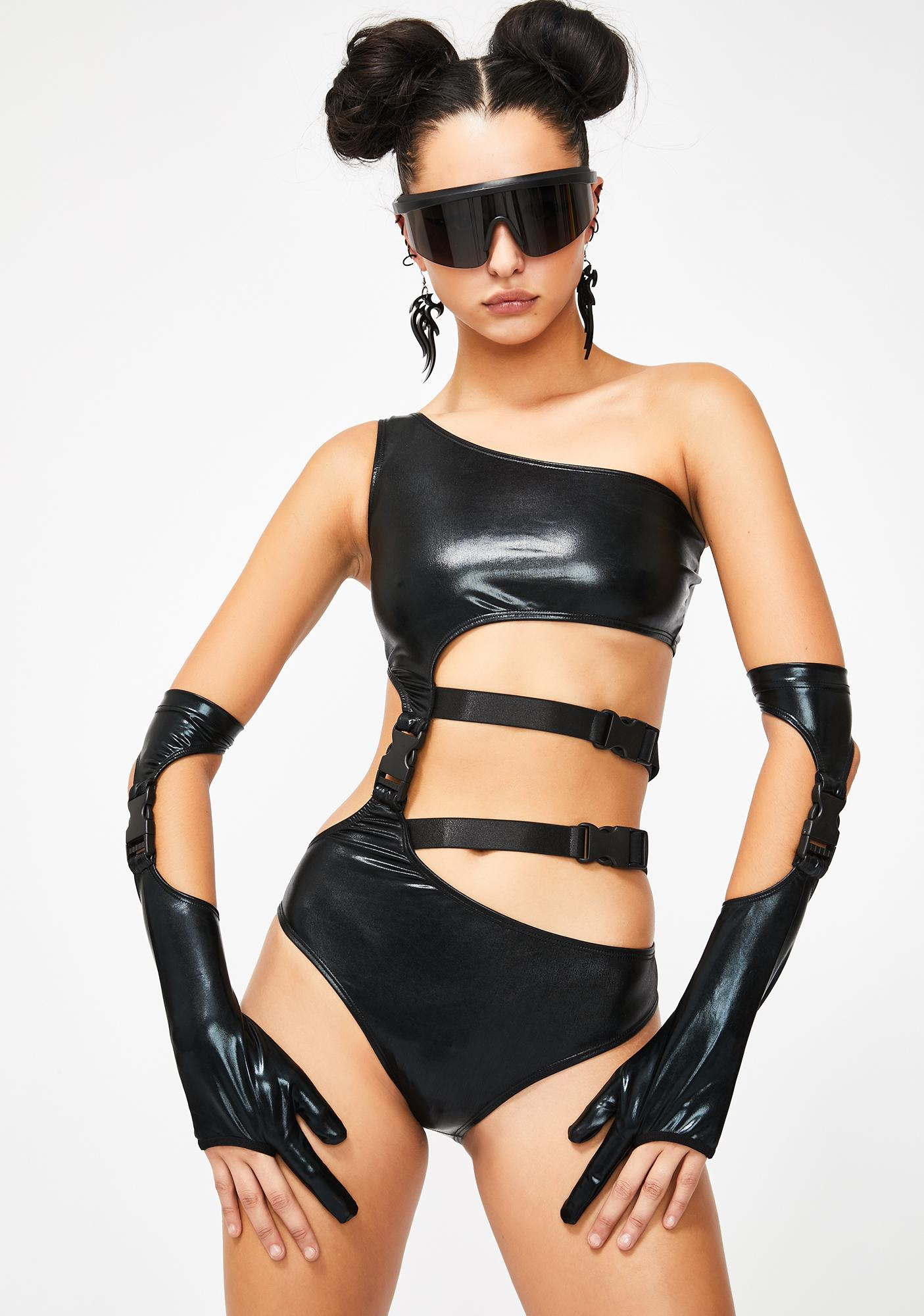 Club Exx Sonic Blitz Cut-Out Bodysuit