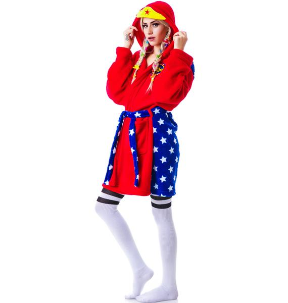 Undergirl Wonderwoman Hooded Robe
