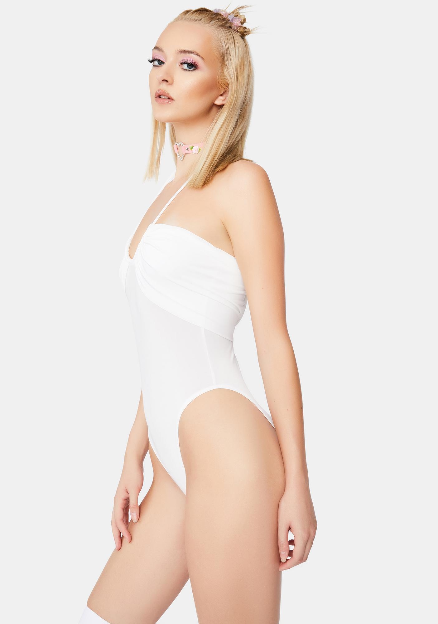 Kiki Riki Talk Back Halter Bodysuit