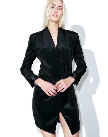 Power Satin Blazer