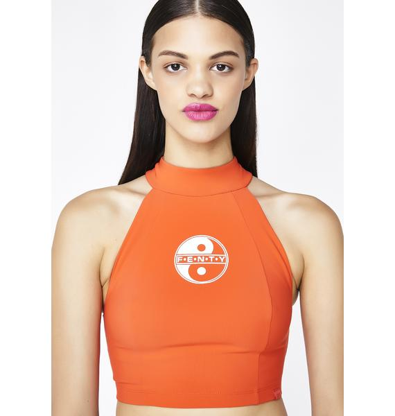 PUMA FENTY PUMA by Rihanna Cropped Scuba Top