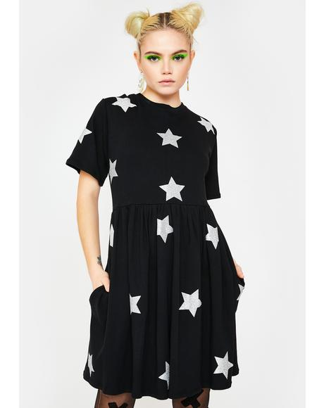 Glitter Star Party Dress