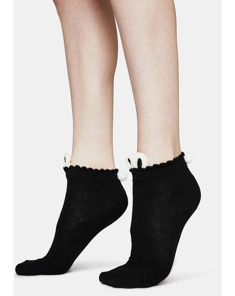 Wicked Big Buns Rabbit Footie Socks