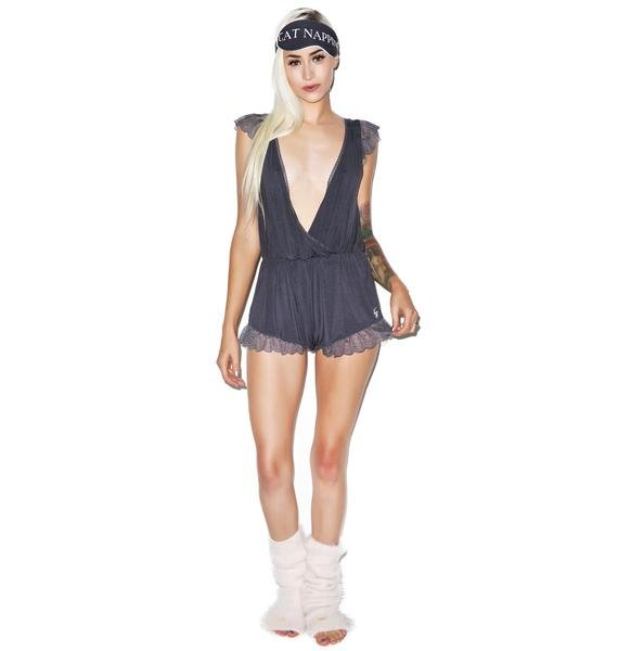 Wildfox Couture RUFFLE LACE ROMPER