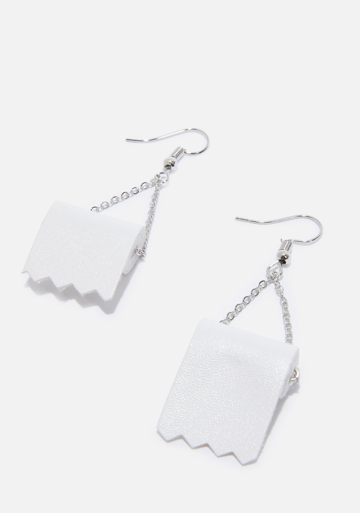 Wiped Out Drop Earrings