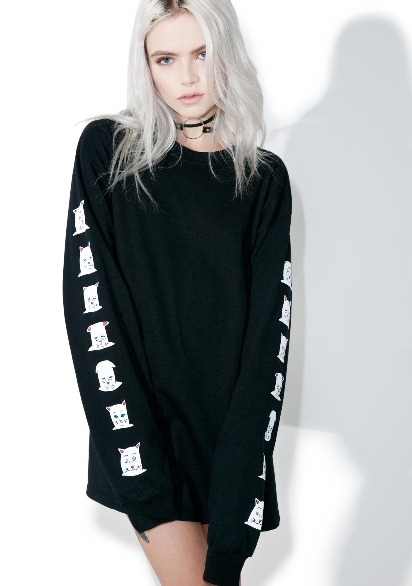 RIPNDIP Caturdays Long Sleeve Tee