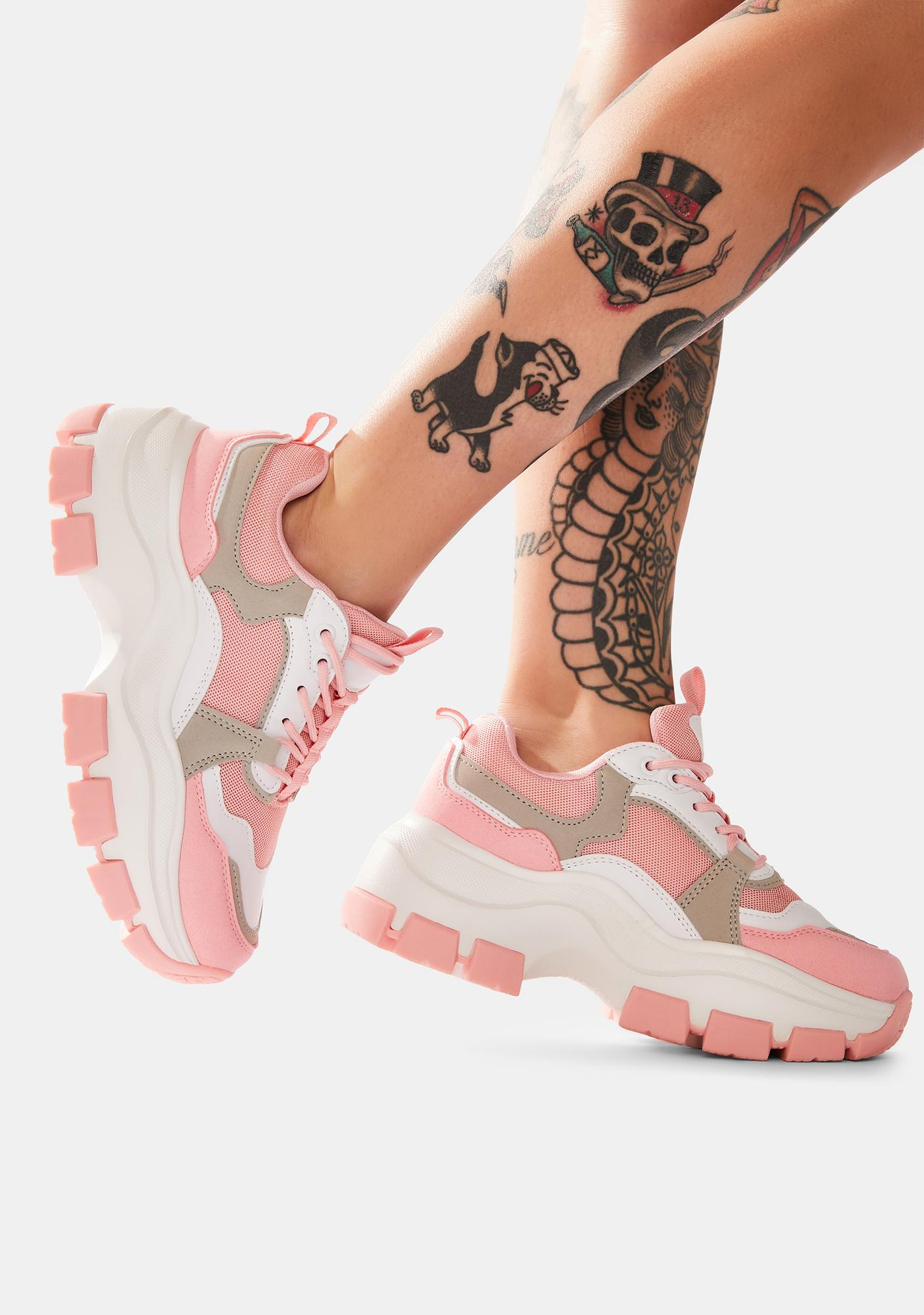 Blush Play The Game Chunky Dad Sneakers