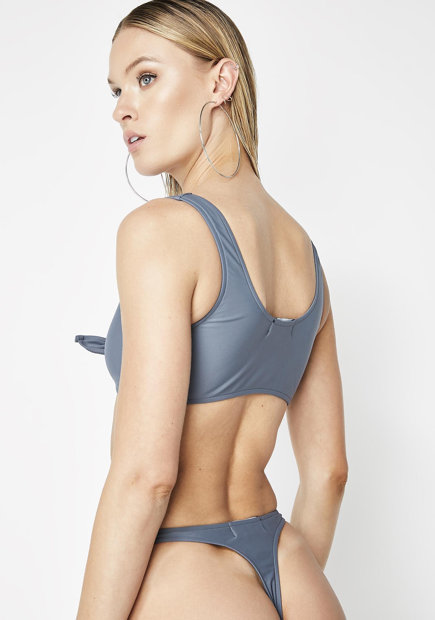 Poster Grl Trending Topic Tie Bikini Set