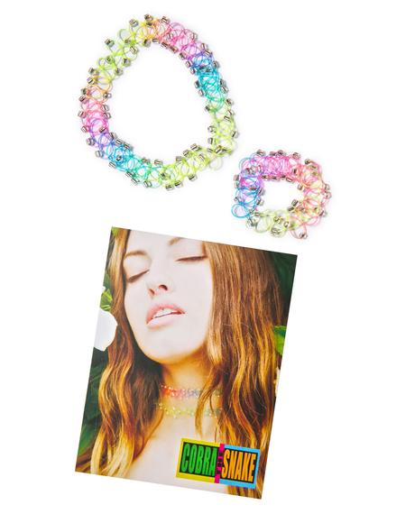 Count Yer Arcade Tickets Tattoo Choker & Bracelet Set