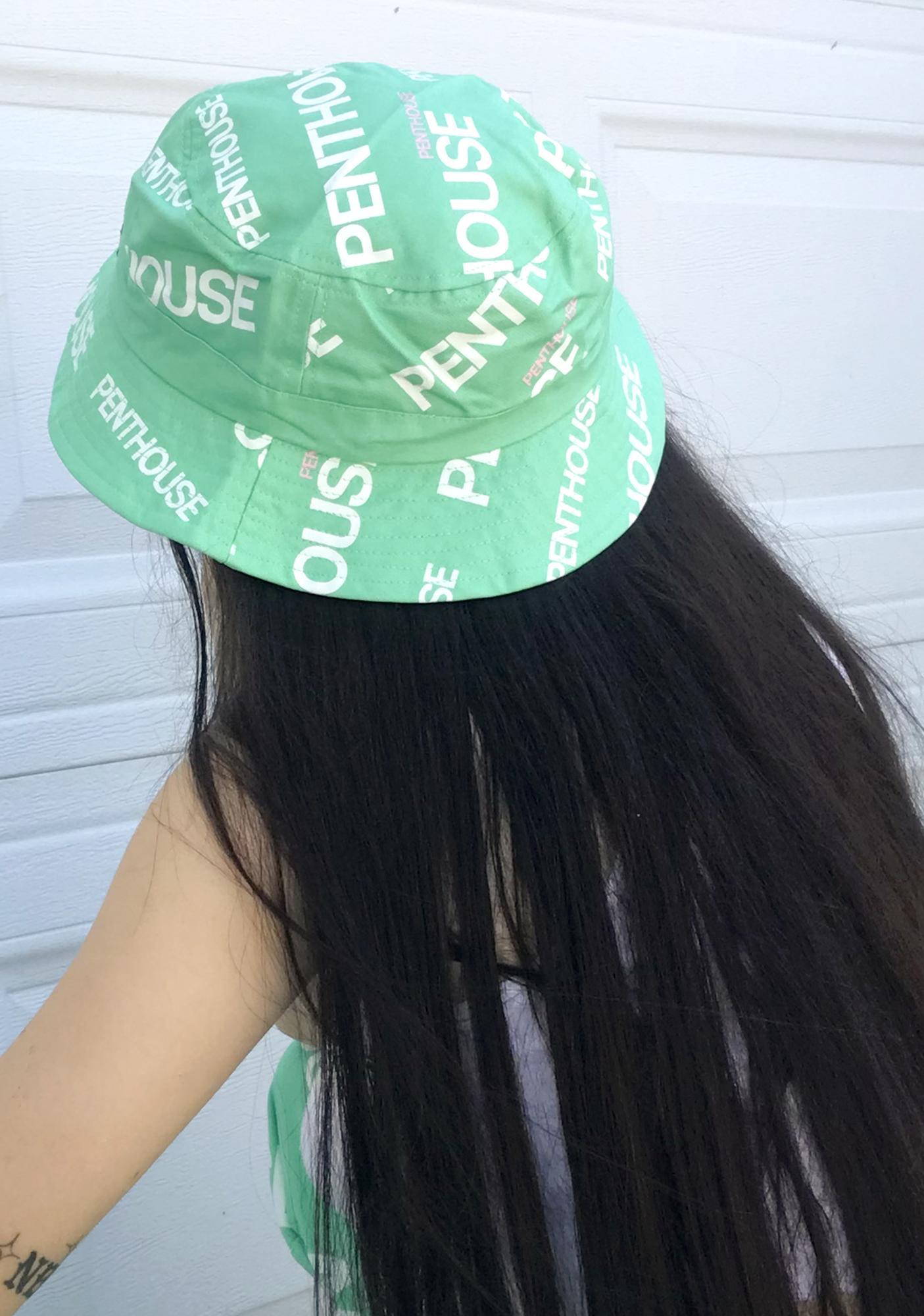 Reason X Penthouse Teal Logo Bucket Hat