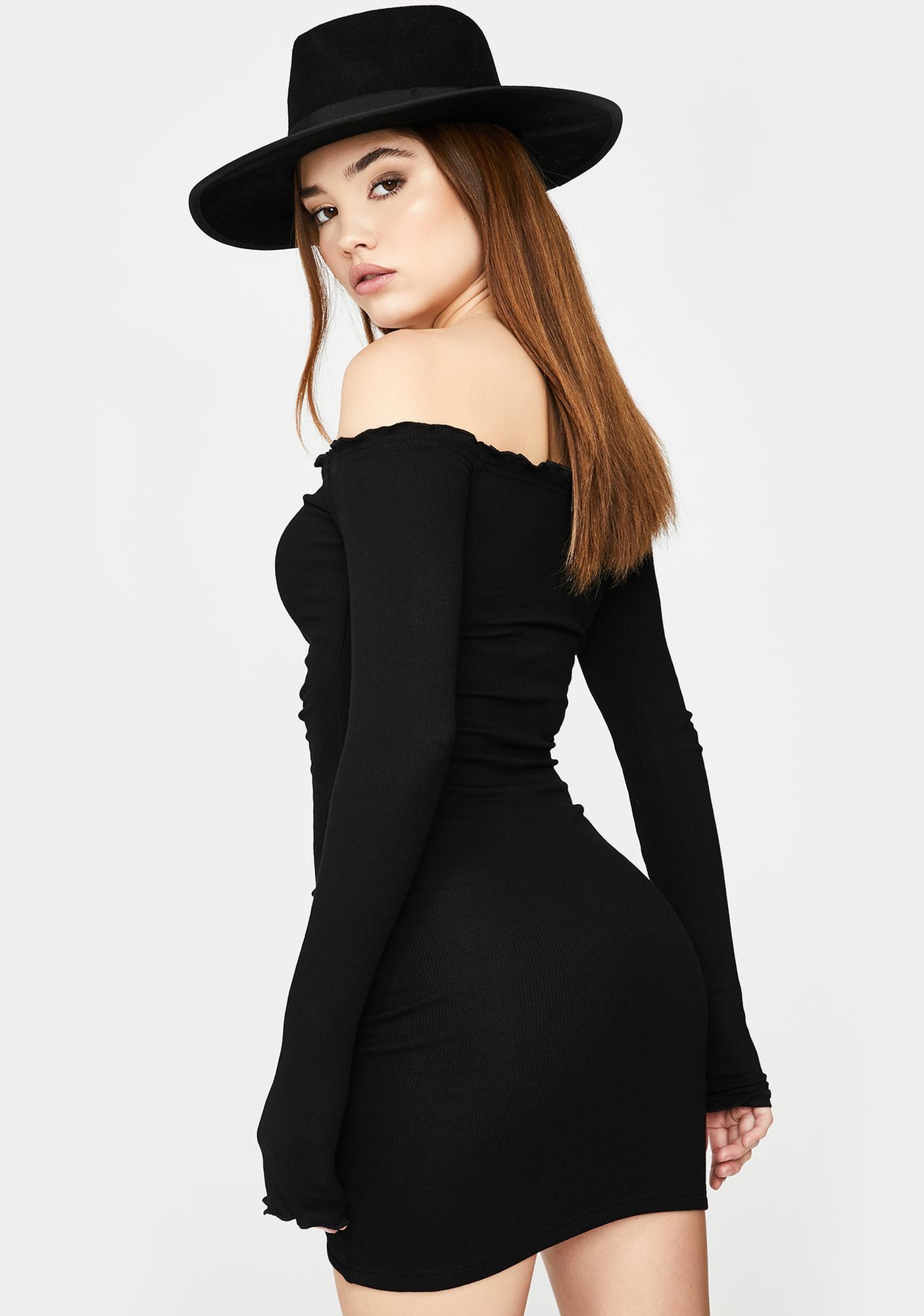 SNDYS. THE LABEL Black Angels Ruched Mini Dress