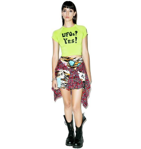O Mighty UFOs Crop Tee
