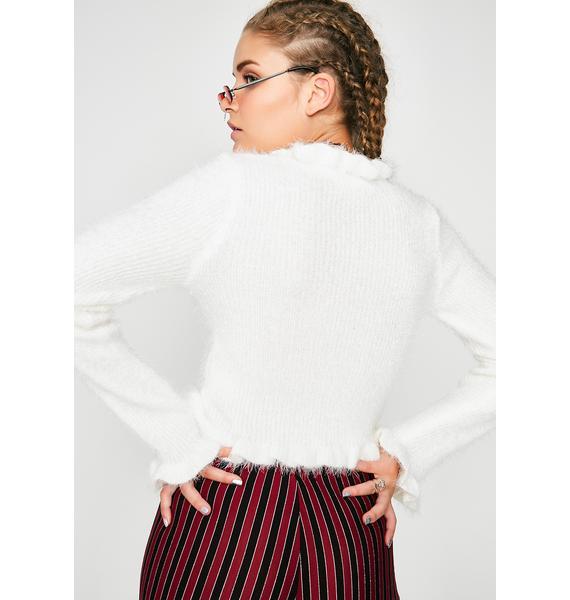 Soft Space Fuzzy Sweater