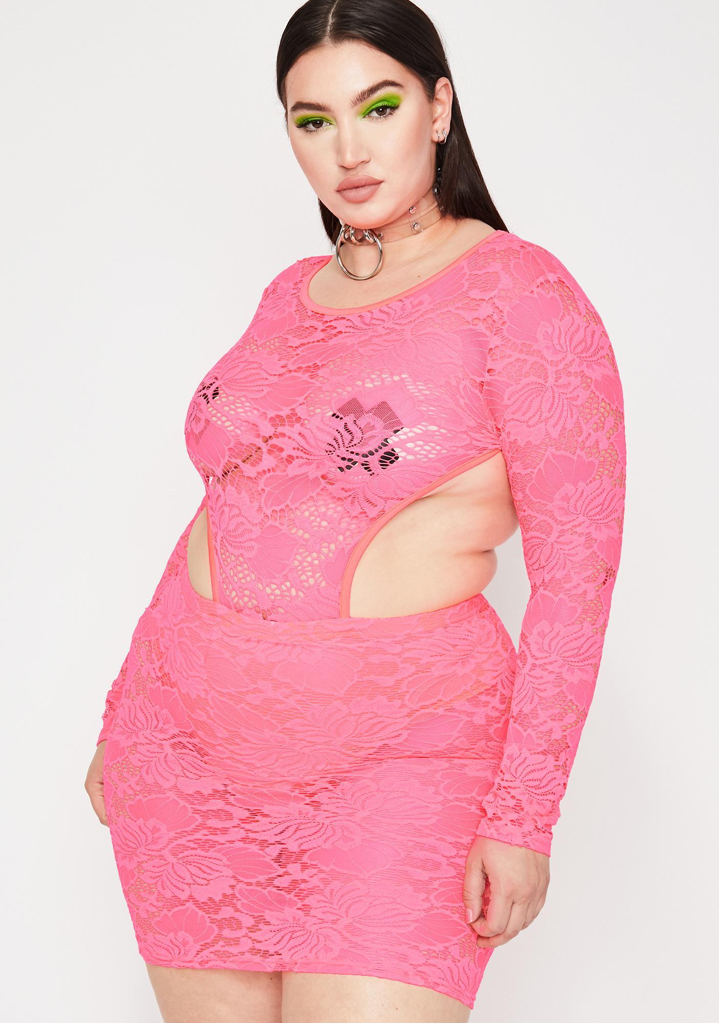 Coral Lux Diva Dominion Lace Dress