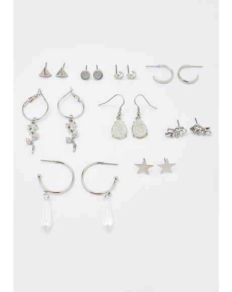 Notorious Charm Earrings Set
