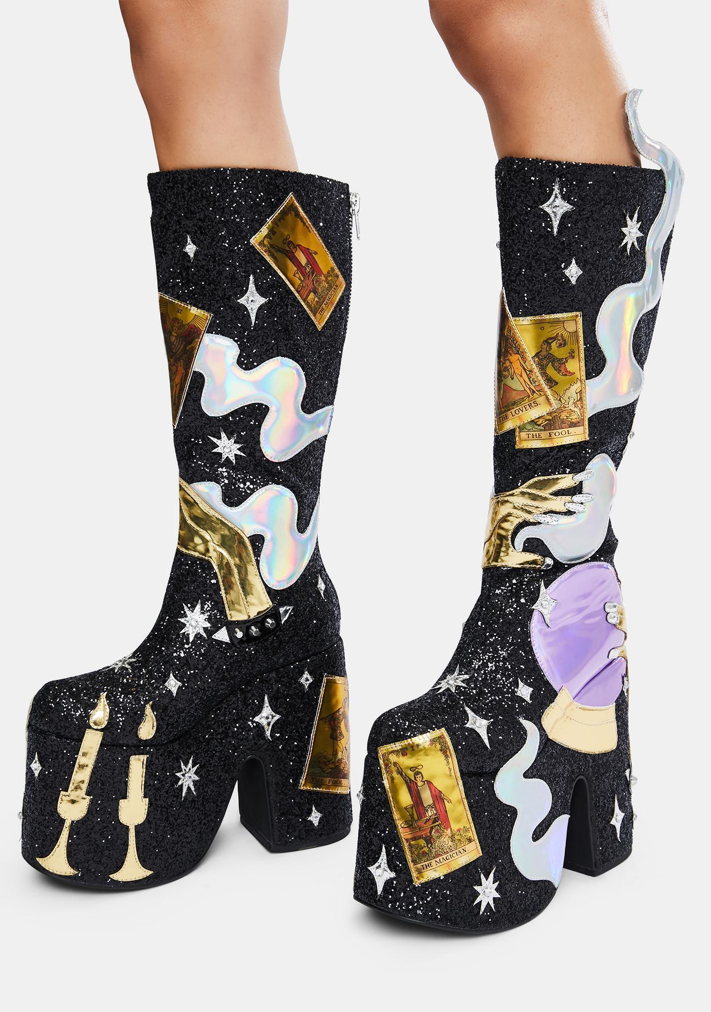 Club Exx Cosmic Fortune Platform Boots