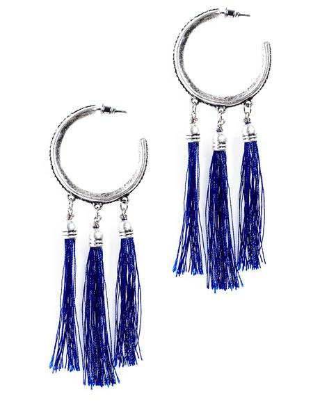 La Lune Fringed Earrings