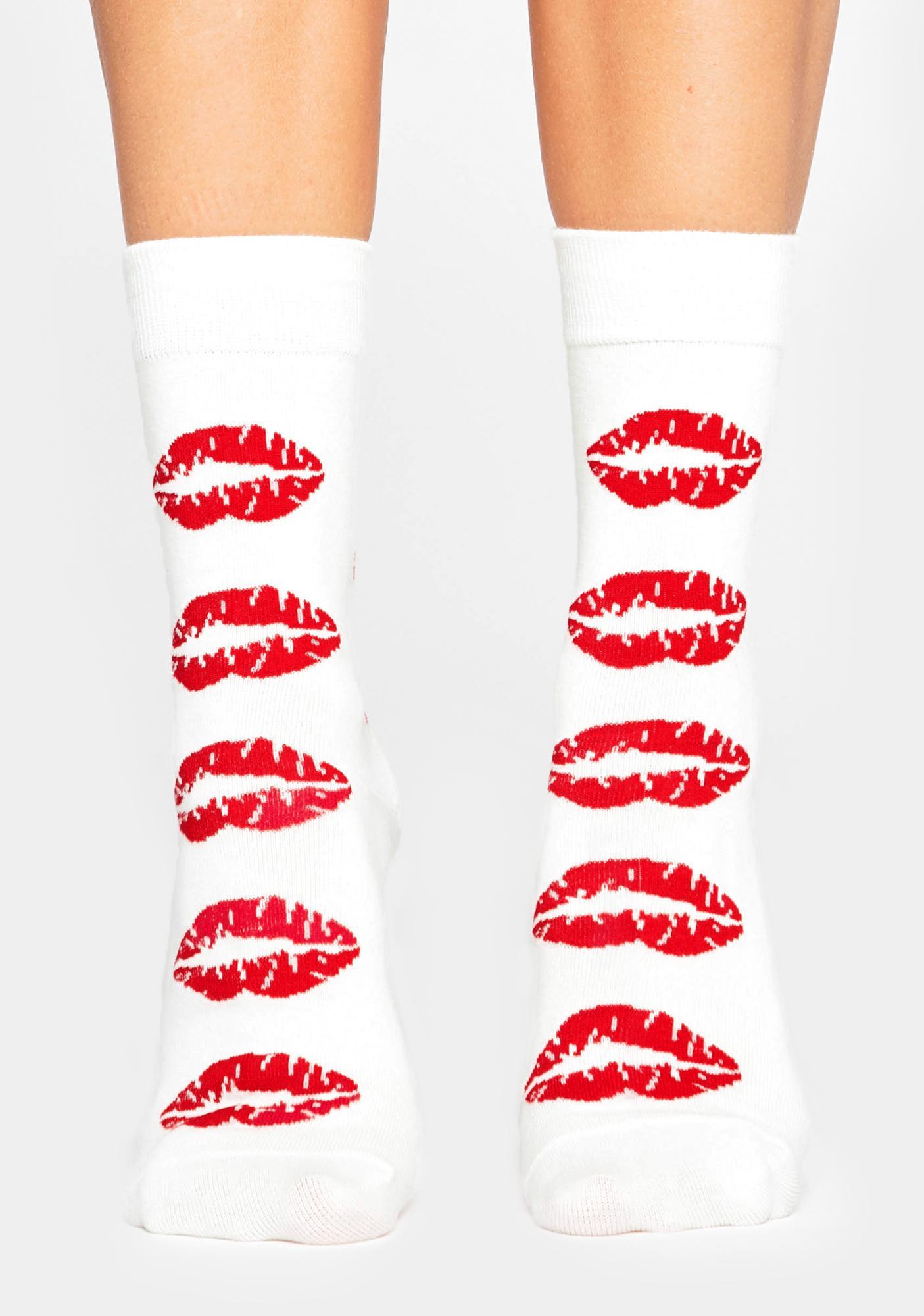 Makeout Sesh Crew Socks