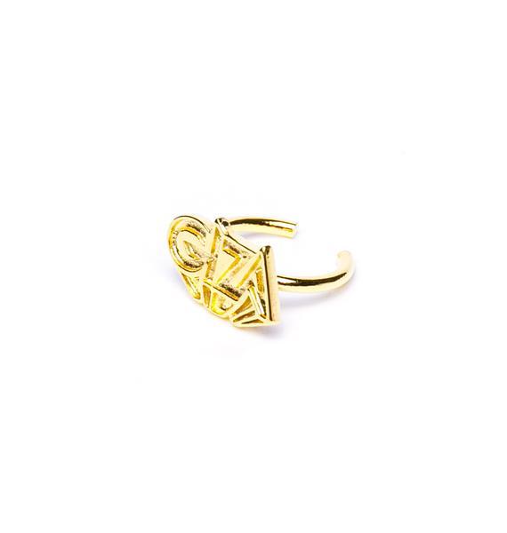 Joyrich x Giza 3D Logo Micro Fingertip Ring