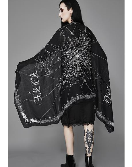 Death Becomes Her Web Scarf