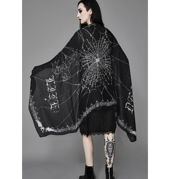 Widow Death Becomes Her Web Scarf