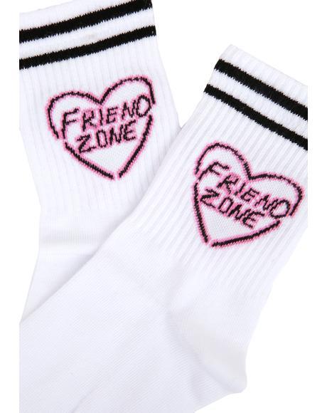 Neon Heart Socks
