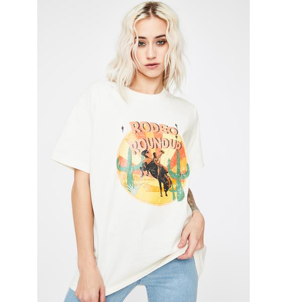 Daisy Street Rodeo Roundup Graphic Print Tee
