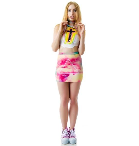 Cotton Candy Clouds Prism Skirt