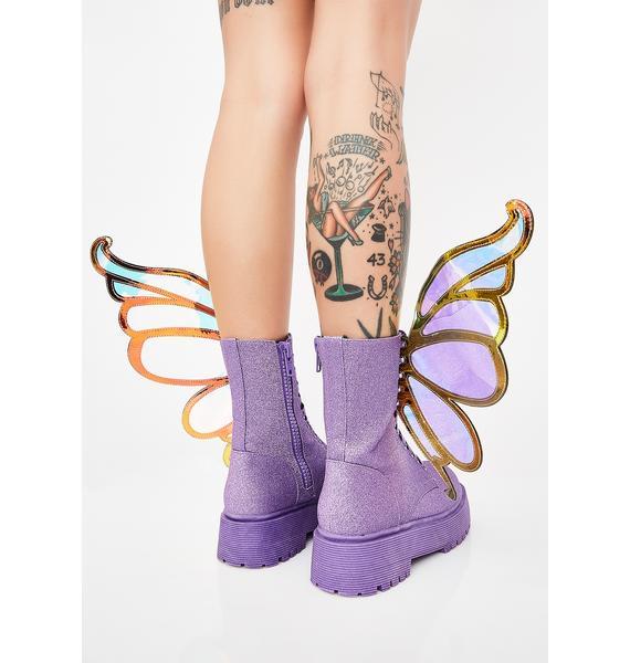 Club Exx Fairy Flossin' Glitter Boots