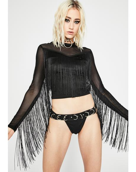 Wild West Fringe Top
