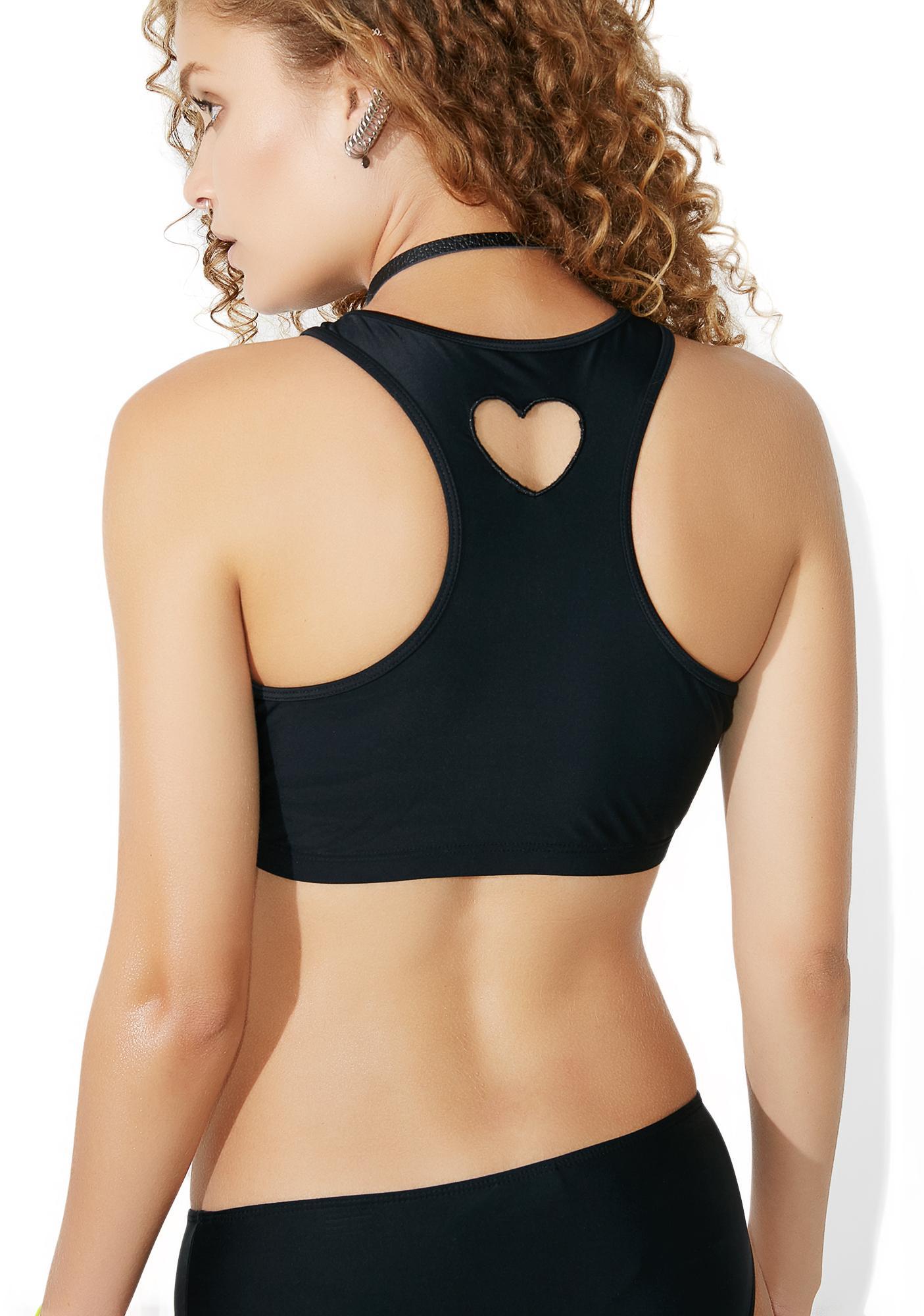 Lazy Oaf Heart Hole Bikini Top