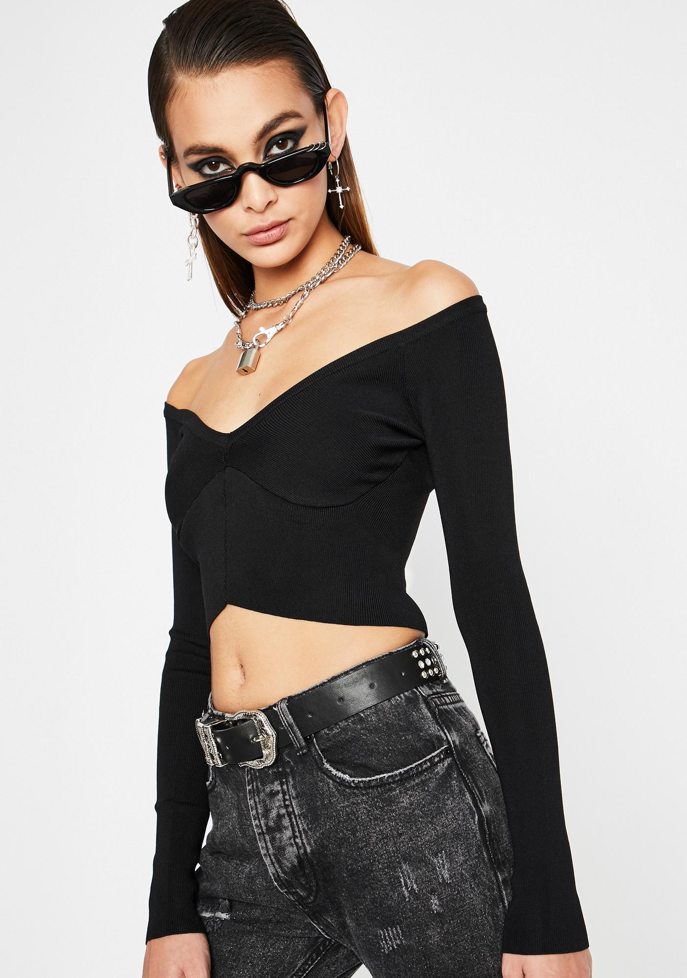 Devious Fuxxx With Me Crop Top