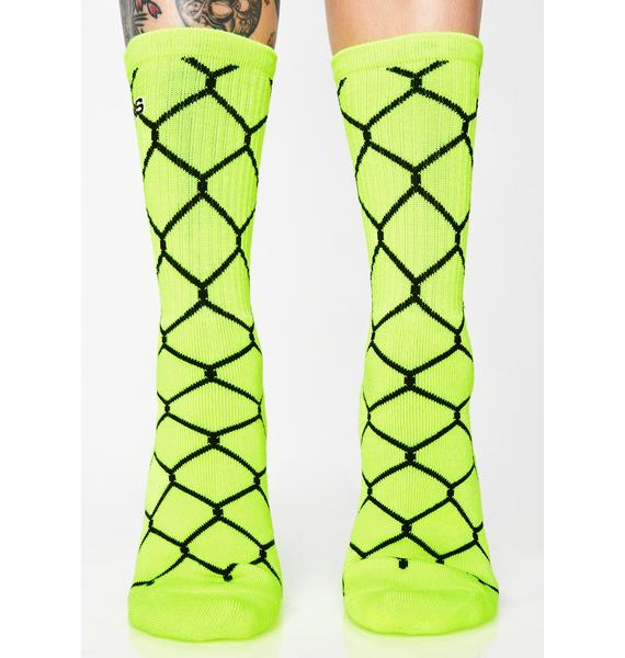 40s & Shorties Chain Link Crew Socks