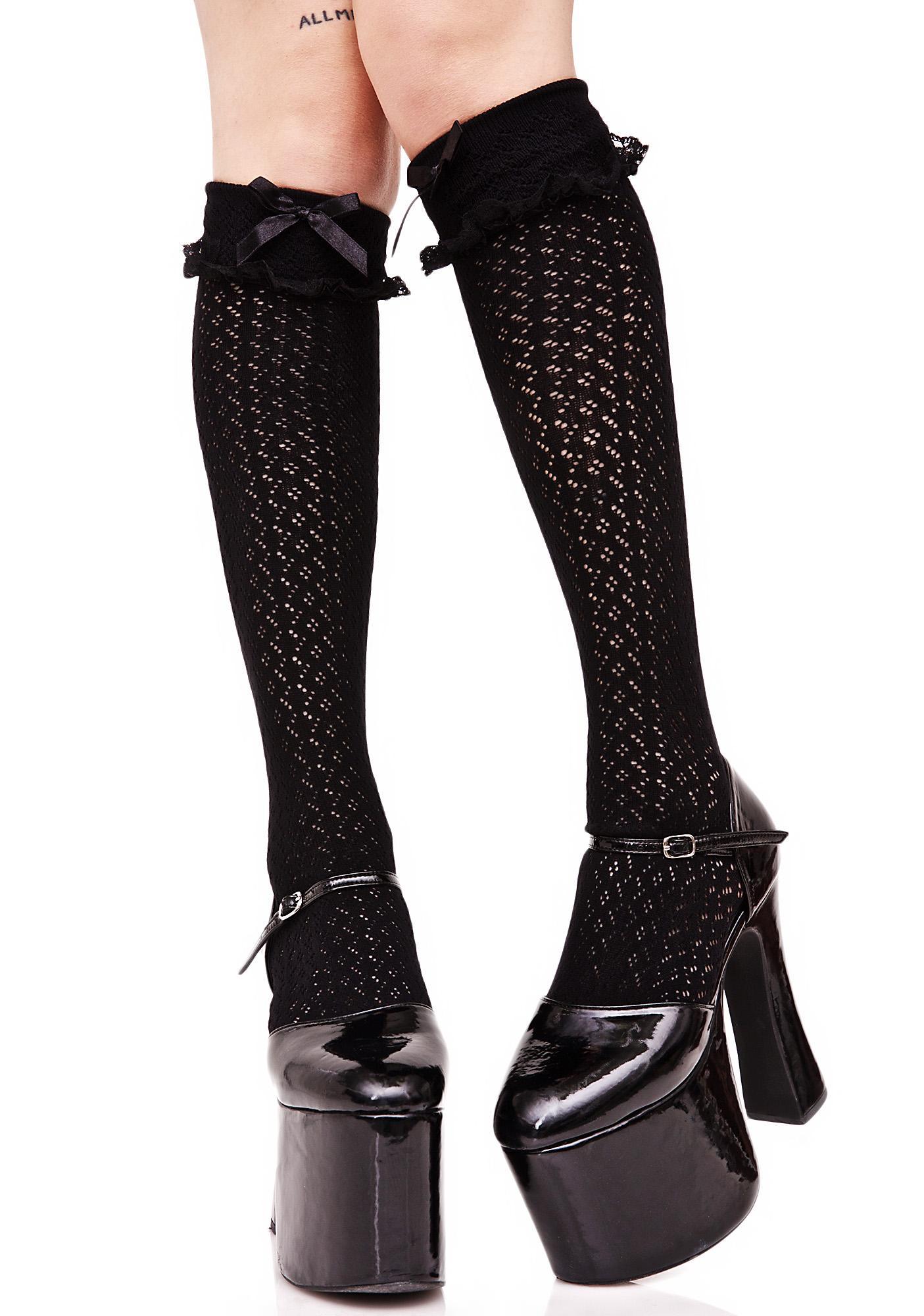 Dark Sugar Cuffed Knee Socks