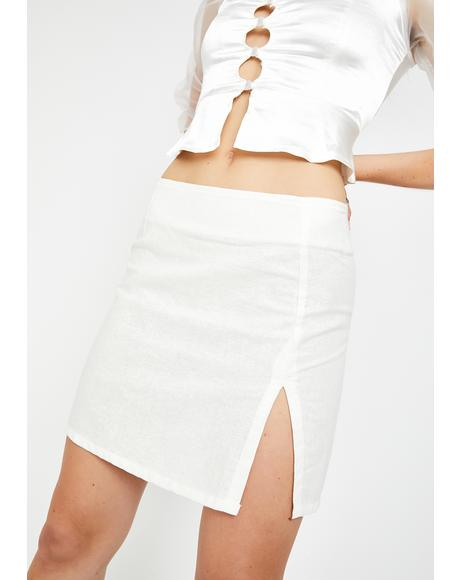 White Sheny Mini Skirt