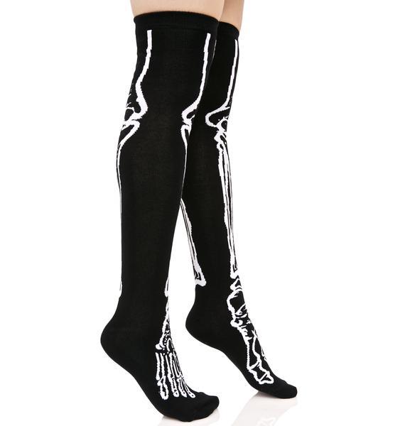 Killstar Morgue Over The Knee Socks