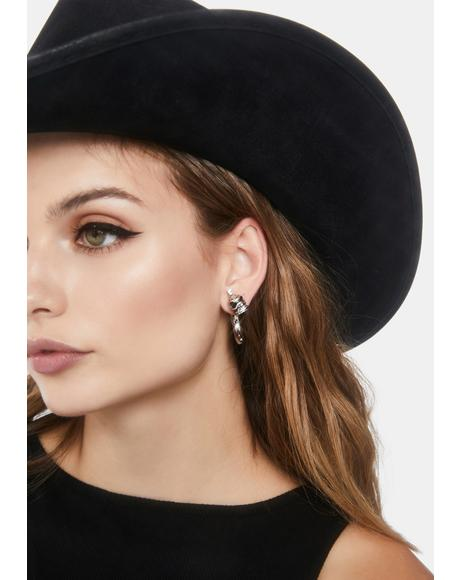 So Hardcore Skull Earrings