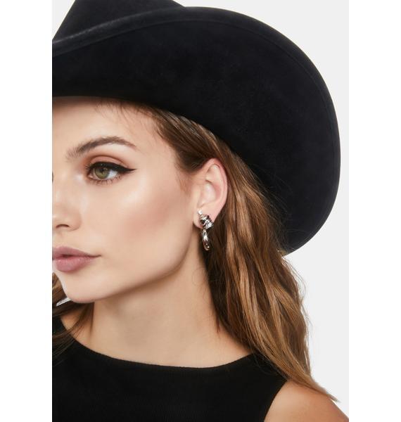 So Hardcore Skull Earrings