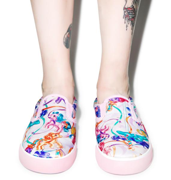 Iron Fist My Little Pony Merry Go Round Slip On Sneakers