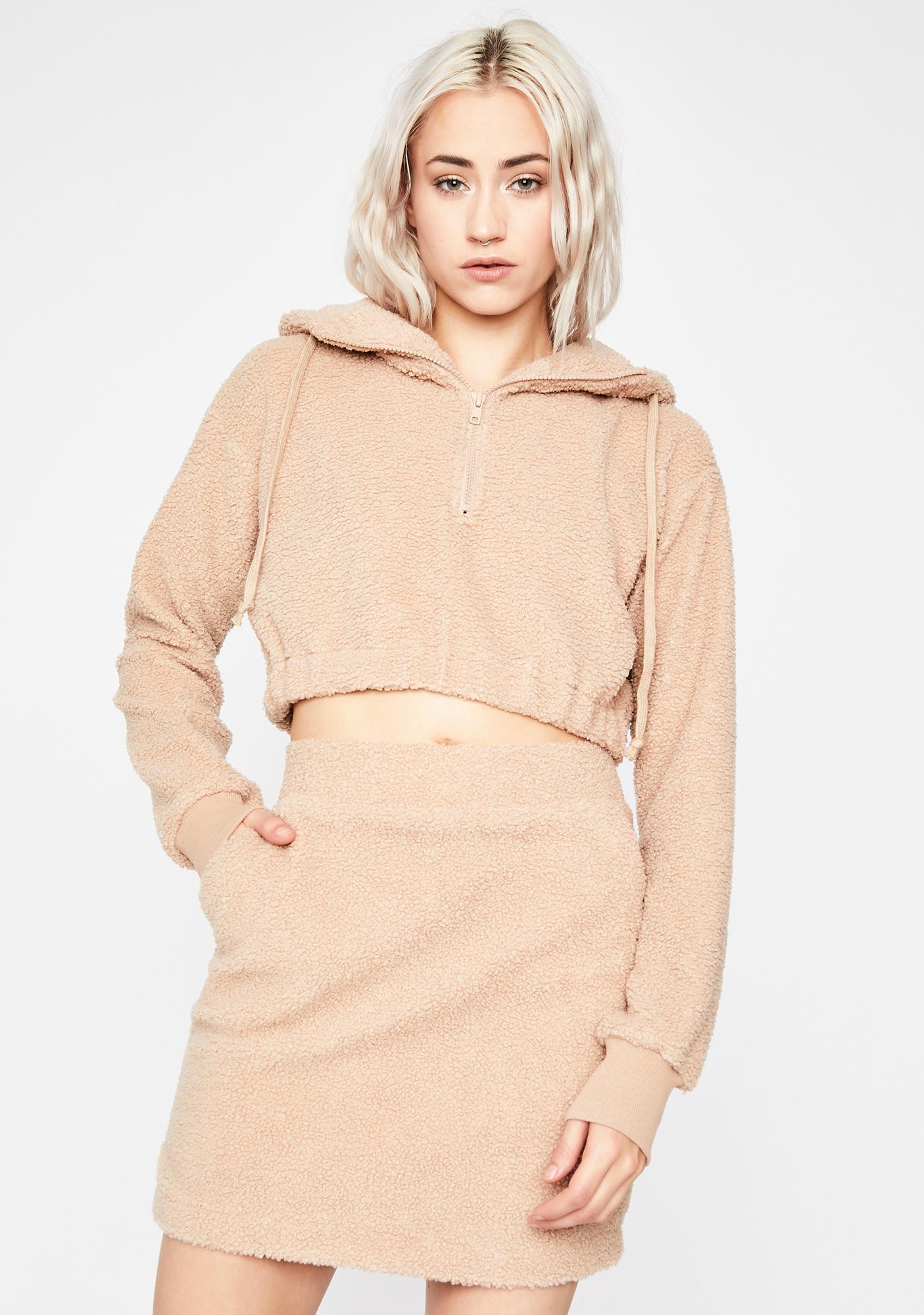 Teddy Plush Lover Skirt Set