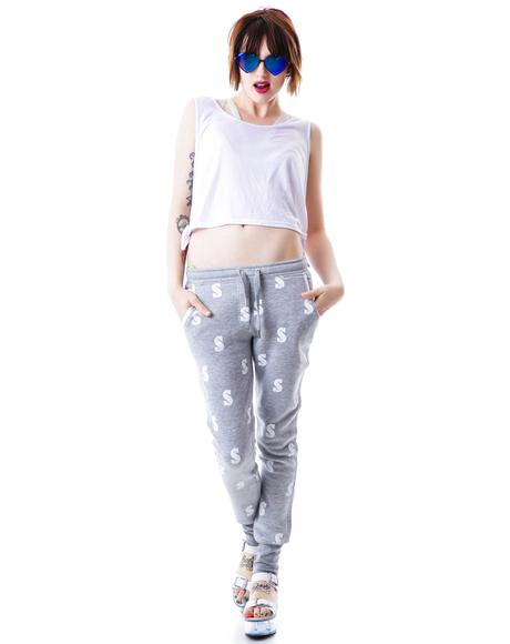 Dollar All Over Loose Fit Sweatpants